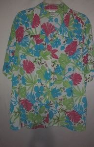 Allison Daley Turquoise Lime Aloha Top 24W Plus